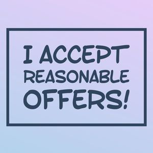 I love reasonable offers!  Bundle and save!
